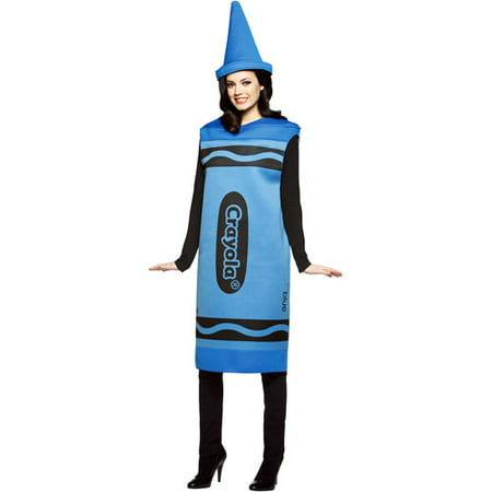 Crayola Blue Adult Halloween Costume](Rasta Woman Halloween Costume)
