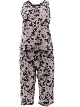 Carole Hochman Daisy Floral Baby French Terry 4Pc Lounge Women's A290142