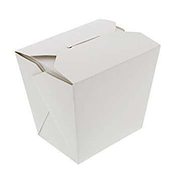 Take Out Boxes, White 50 Pack - Chinese Food Boxes, Chinese Food Containers Chinese Take Out Boxes 16 oz