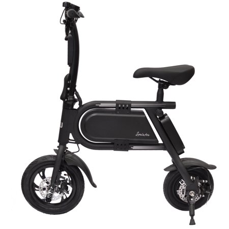 Hover-Way Collapsible 12 MPH Electric Scooter Sprinter Bike, 12 Mile Range (Black) ()