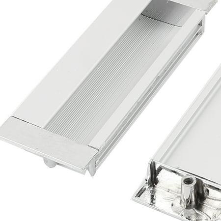 11cmx4cm Rectangle Aluminium encastré Porte Armoire 5Pcs poignée encastrées - image 1 de 2