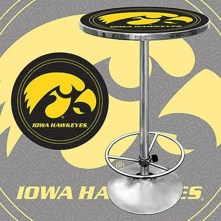 "Trademark NCAA University of Iowa 42"" Pub Table, Chrome"