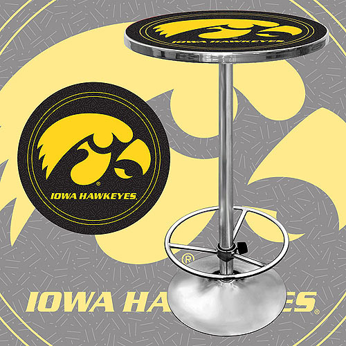 "Trademark NCAA University of Iowa 42"" Pub Table, Chrome"