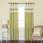 Best Home Fashion, Inc. Heavyweight Striped Semi-Sheer Grommet Curtain Panels (Set of 2)