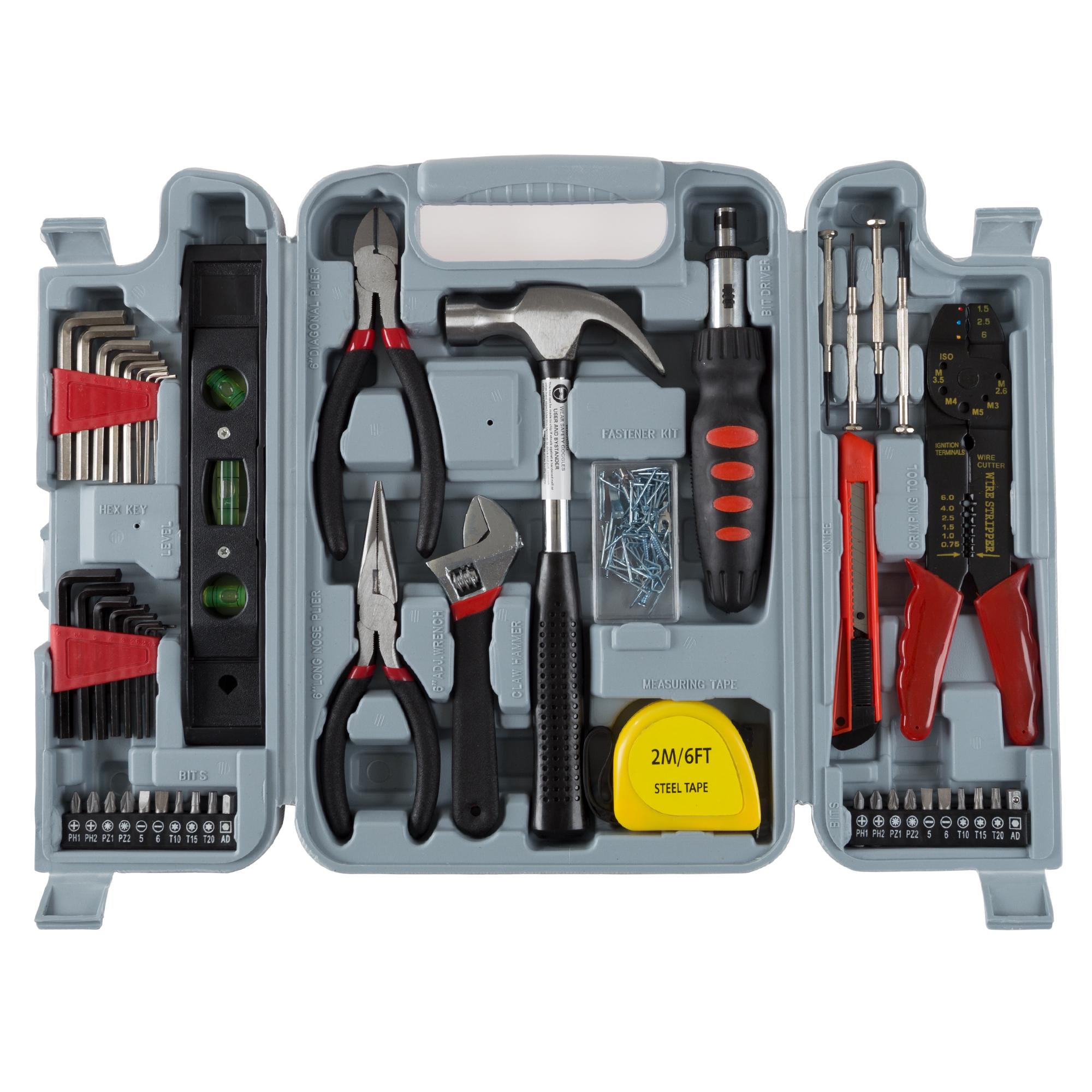 Stalwart 75-6037 130-Piece Hand Tool Set