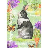 Toland House Flag - Hippity Hoppity Bunny