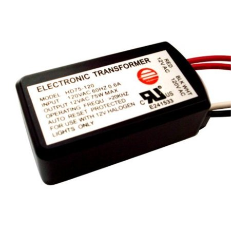 Low Voltage Compact Electronic Transformer - 75W ELECTRONIC LOW VOLTAGE HALOGEN TRANSFORMER HD75-120