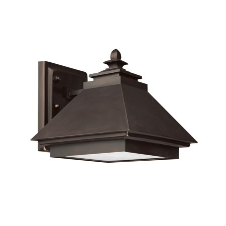 Capital Lighting 9092BB 1-Light Outdoor Wall Lantern-Dark Sky, Burnished Bronze with Rust Scavo Glass and Acid-Washed Glass Lens