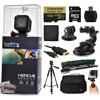 GoPro Hero 4 HERO4 Session CHDHS-101 with 64GB Ultra Memory with MicroSD Reader + Suction Cup Mount + 67  Monopod + 60? Pro Series Tripod + Large Padded Case + Handgrip Stabilizer + HDMI Cable + More