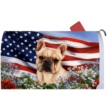 French Bulldog Cream - Best of Breed Patriotic I Dog Breed Mail Box Cover (Georgia Bulldog Mailbox Cover)