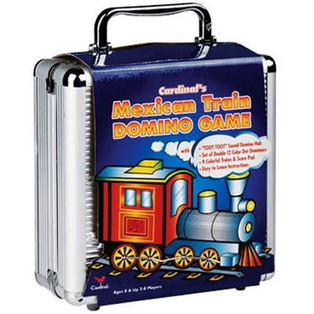 Mexican Train Dominoes, Aluminum Case