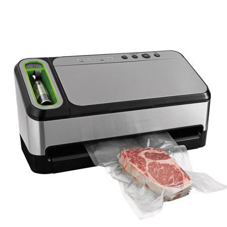 FoodSaver 4840 2-in-1 Automatic Vacuum Sealing System with Bonus Built-in Retractable Handheld Sealer, Starter Kit, Heat-Seal and Zipper Bags
