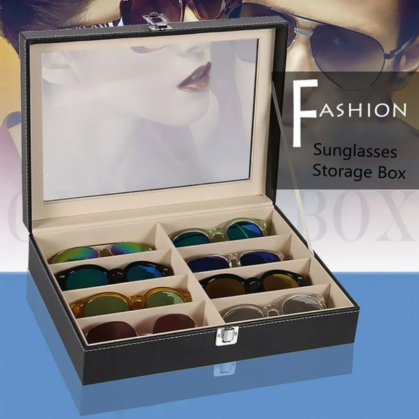 8 Grid Eye Glasses Case Eyewear, Sunglasses Storage Case