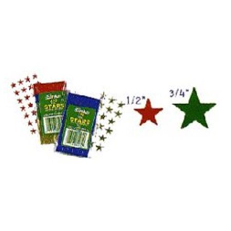 Eureka Eu-82472 Stickers Foil Stars.5 Inch Silver 250 Pack - image 1 of 1