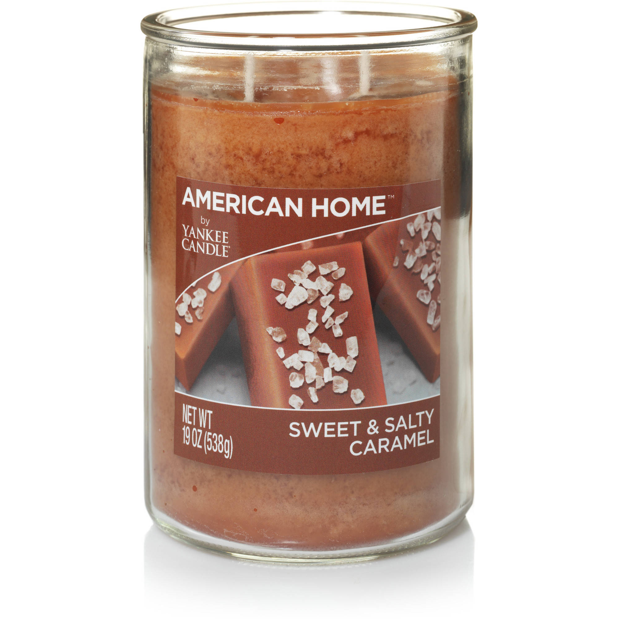 American Home by Yankee Candle Sweet & Salty Caramel, 19 oz Large 2-Wick Tumbler