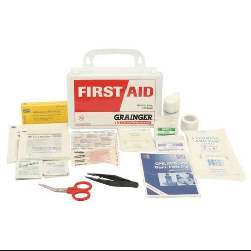 Z019824 First Aid Kit, Bulk, White, 16 Pcs, 3 People