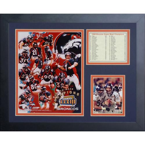 Legends Never Die Denver Broncos Super Bowl 33 Framed Memorabili