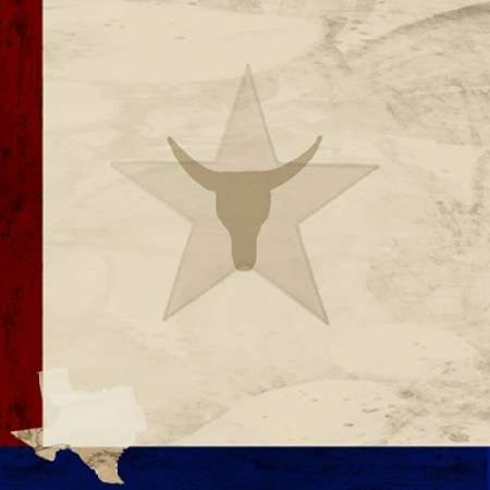 Stars and Longhorns Poster Print by  Kimberly Allen