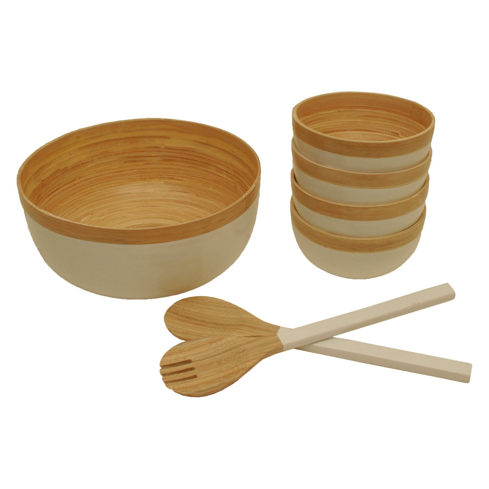 Wald Imports Complete 7 Piece Salad Serving Set