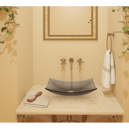 DecoLav Darya Incandescense Plastic Rectangular Vessel Bathroom Sink ()
