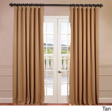 Extra Wide Thermal Blackout 108 Inch Curtain Panel Tan