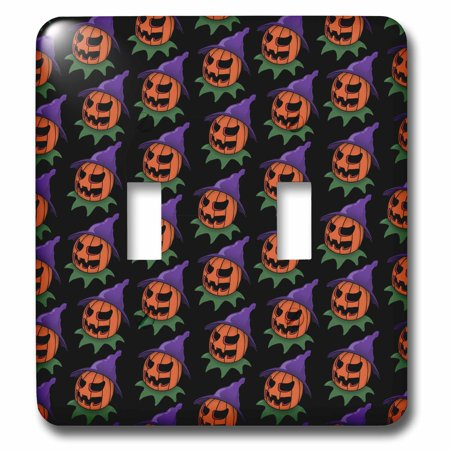 3dRose PATTERN halloween jack o lantern 2 - Double Toggle Switch (lsp_55011_2)](Halloween Jack O Lanterns Pattern)