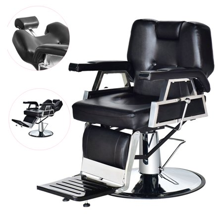 Zimtown Hydraulic Reclining Barber Chair Equipment, for Shampoo Salon Hair Styling Beauty Spa, with Footrest, Height Adjustable 4