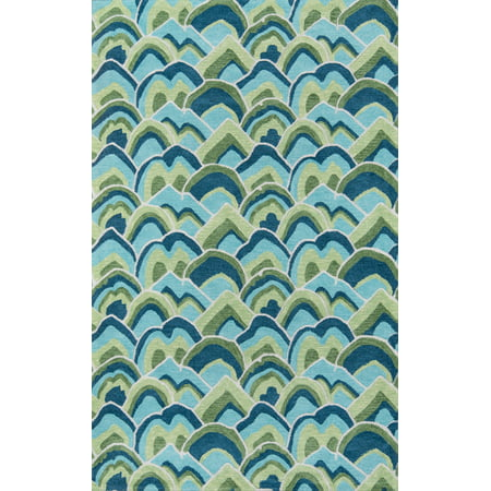 Madcap Cottage by Momeni Embrace Cloud Club Green Area Rug 2' X 3'