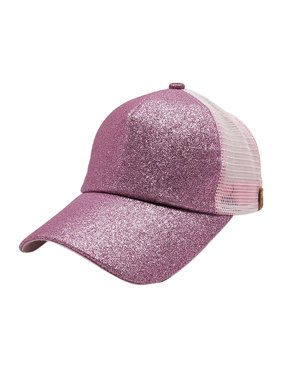 a499649fd98 Product Image DZT1968 2018 Women Ponytail Baseball Cap Sequins Shiny Messy  Bun Snapback Hat Sun Caps