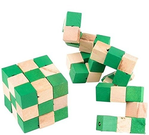 MagIC PUZZLE CUBE-Attention Masterminds! Wooden Twisty Snake Brain Teaser 3D Puzzle Takes Guile, Wits, And... by Kidsco