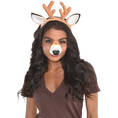 Selfie Kit Adult Costume Accessory Kit Deer](Halloween Selfie)