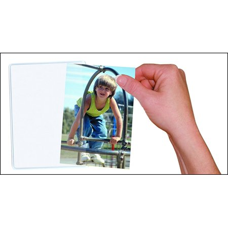 Acrylic Magnet Frame - 10 Pack Magnetic Photo Picture Frames - White Magnetic Photo Pockets - Holds 4x6 Photos, 4x6 High-Quality Re-usable Magnetic Photo Pockets.., By Flexible magnets