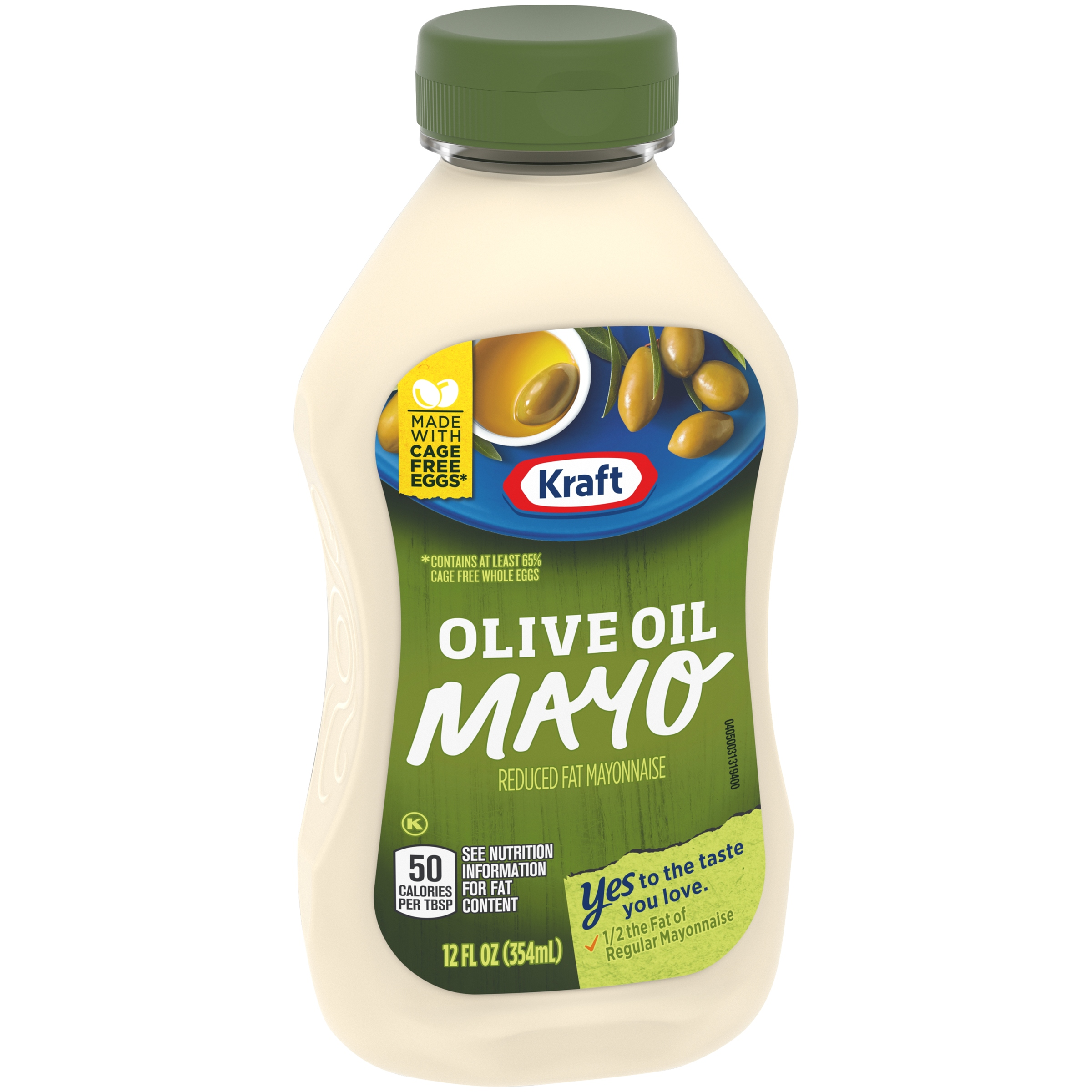 Kraft Olive Oil Reduced Fat Mayonnaise 12 fl. oz. Bottle