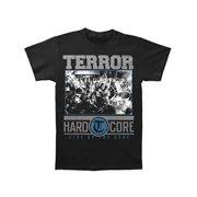 Terror Men's  Hardcore Black T-shirt Black