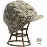 Nirvanna Designs CH211 White Equiestrian Knit Hat with Fleece