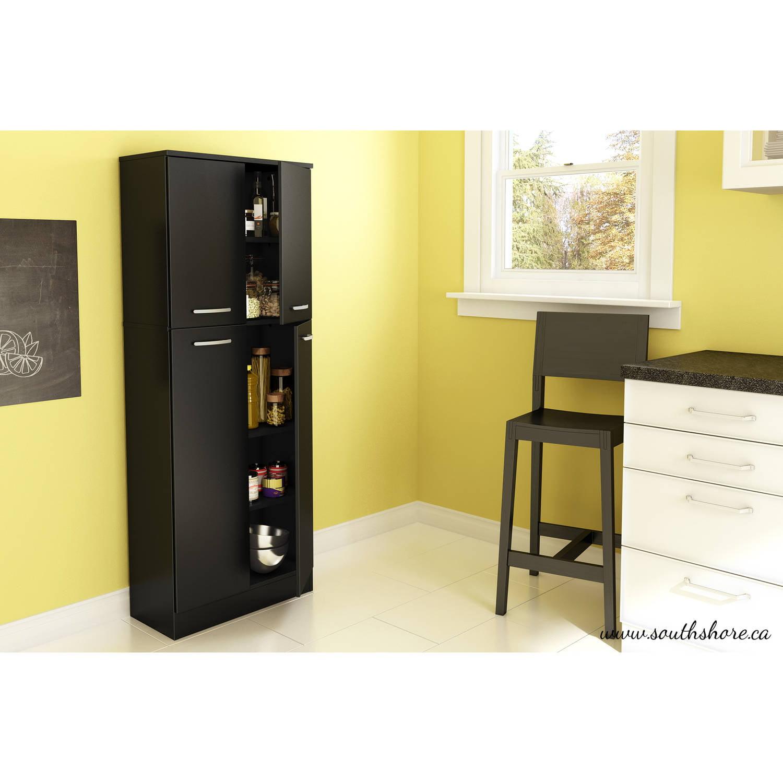 Furniture Kitchen Pantry South Shore Smart Basics 4 Door Storage Pantry Multiple Colors
