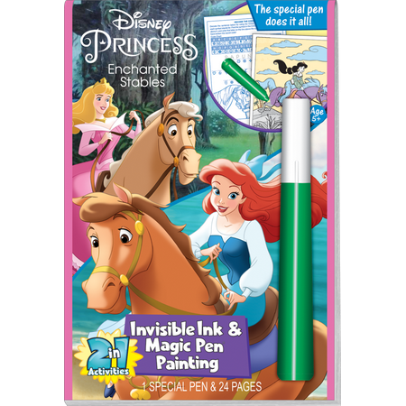 DISNEY ENCHANTED STABLES INV. INK W MAGIC PEN PAINTING / LEE