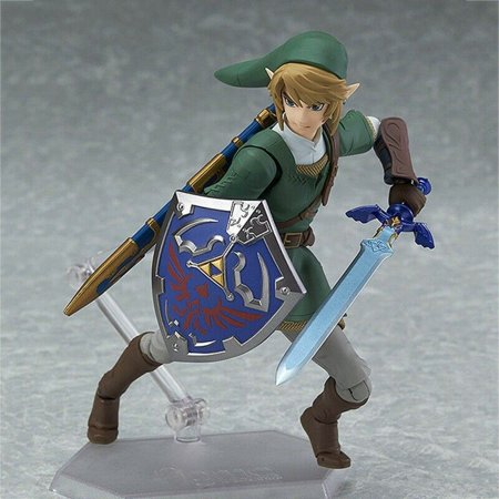 Fancyleo New The Legend of Zelda: Twilight Princess Link Figure Figma 320 Toy In Box 14cm ()