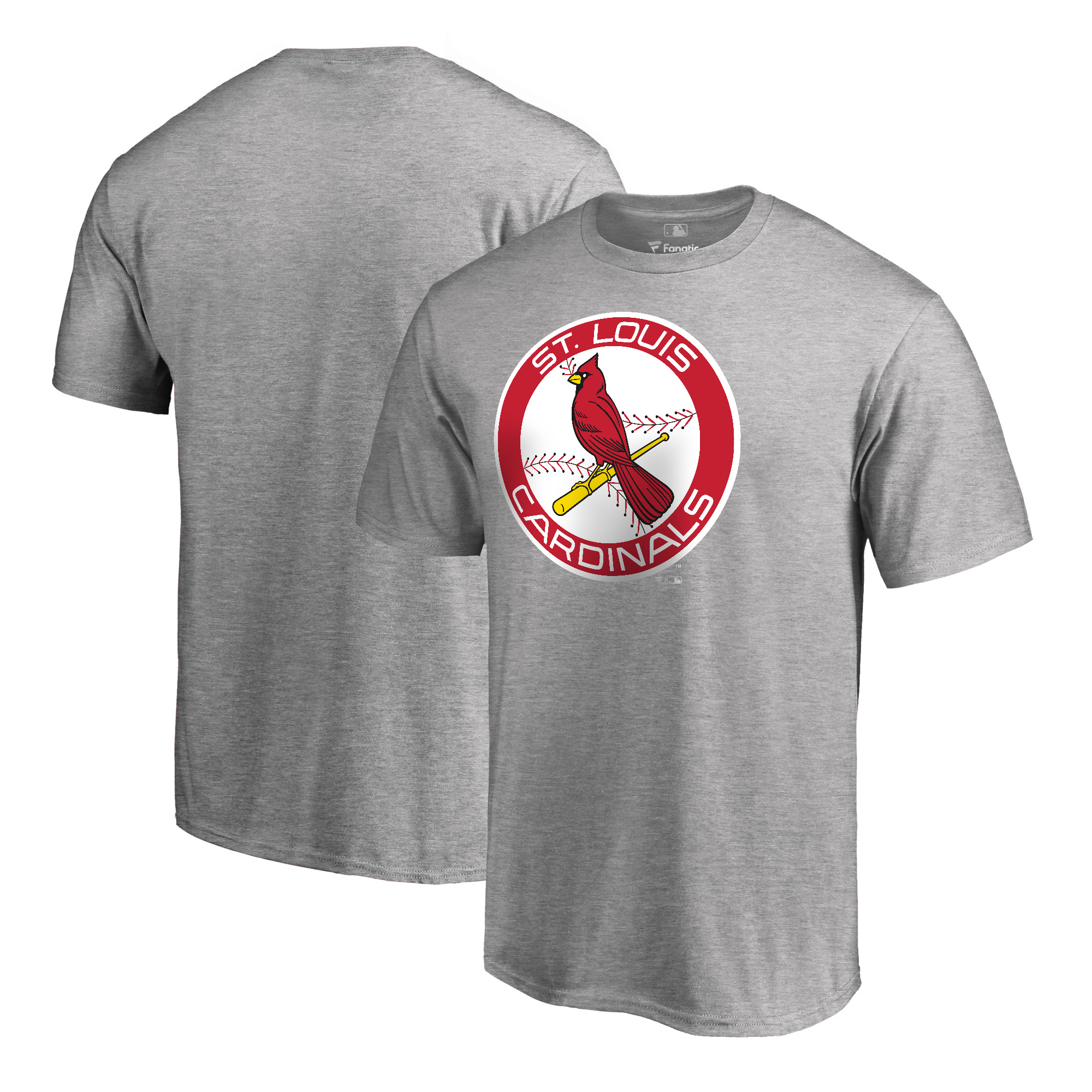 St. Louis Cardinals Fanatics Branded Cooperstown Collection Huntington T-Shirt - Heathered Gray