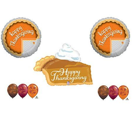 9 pcTHANKSGIVING PUMPKIN PIE Balloons Decorations Supplies Table Centerpiece Dinner
