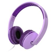 On Ear Headphones with Mic, Jelly Comb Foldable Corded Headphones Wired Headsets with Microphone, Volume Control for Cell Phone, Tablet, PC, Laptop, MP3/4, Video Game (Purple)