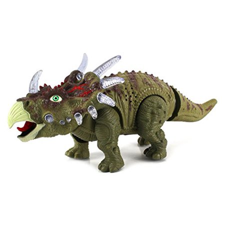 Dinosaur Century Triceratops Battery Operated Toy Dinosaur Figure w/ Realistic Movement, Lights and Sounds - Realistic Dinosaur
