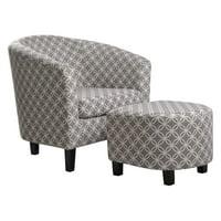 NH Designs Paisley Tub Chair With Ottoman