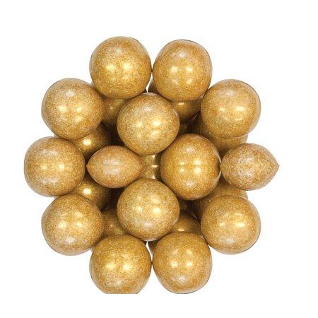 Oak Leaf Shimmering Gold One Inch Gumballs, (Pack of - Gold Gumballs