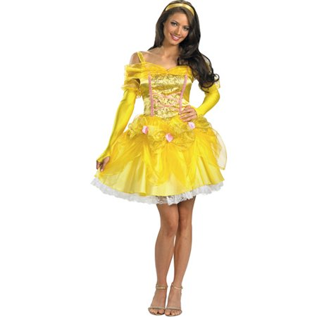 Disney Princess Belle Sassy Adult Halloween Costume - Homemade Princess Jasmine Costume Adults