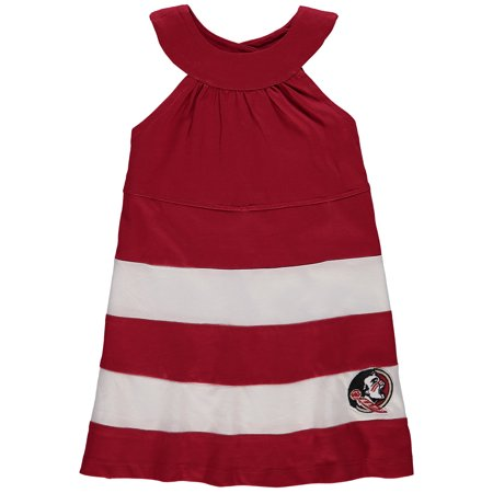 Florida State Seminoles Girl's Toddler Ellee Wide Stripe Dress - Garnet - 2T - Garnet Hill For Kids