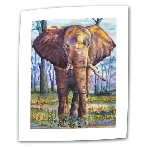ArtWall ''Elephant'' by Dan McDonnell Print of Painting on Canvas