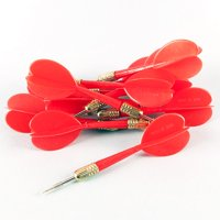 Plastic Darts with Metal Tips - 12 per pack