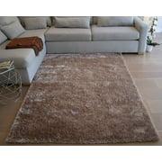 8'x10' Feet Beige Cream Color Shag Shaggy Fluffy Fuzzy Furry Solid Decorative Designer Area Rug Carpet Rug