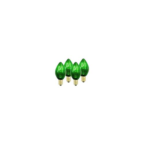 Pack of 5 GE Transparent Green C7 Christmas Replacement Bulbs